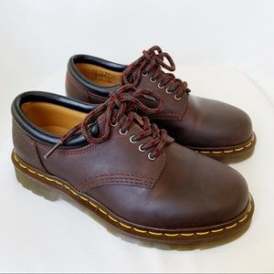 DR. MARTENS NEW Dark Brown Leather Casual Shoes